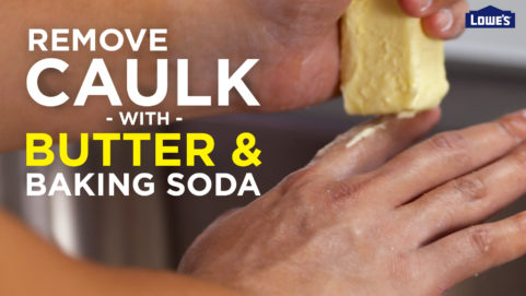 Remove Caulk with Butter